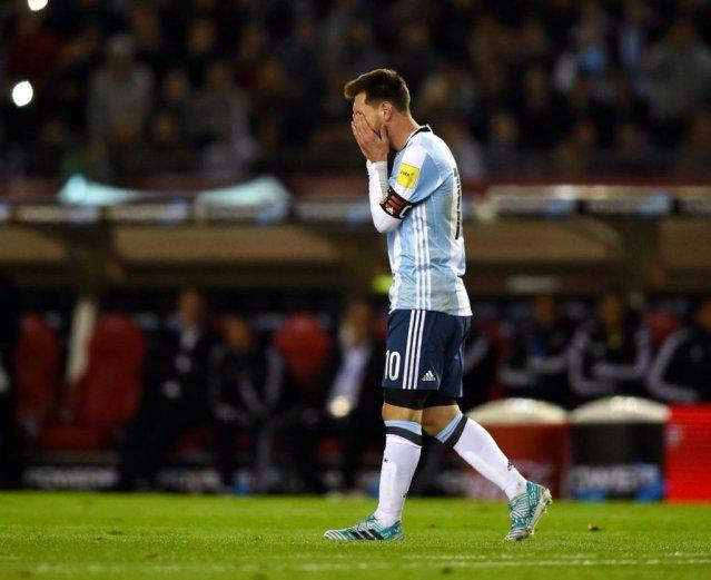 Messi desesperado