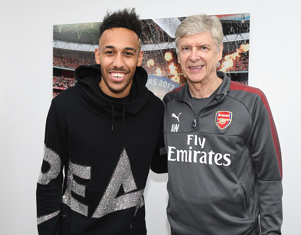 Arsenal Unveil New Signing Pierre-Emerick Aubameyang.