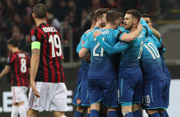 AC Milan v Arsenal - UEFA Europa League Round of 16: First Leg