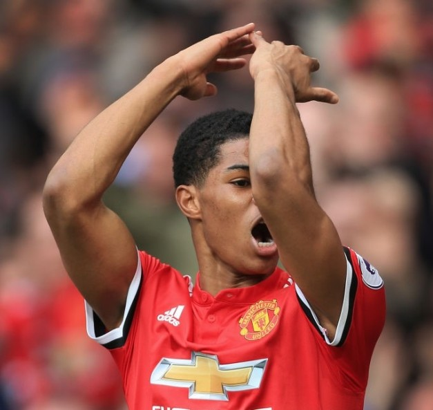 Rashford Celebrates