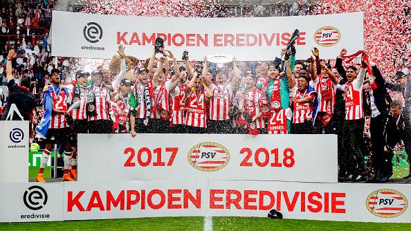 PSV trophy celebration