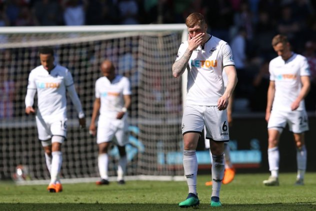Swansea down
