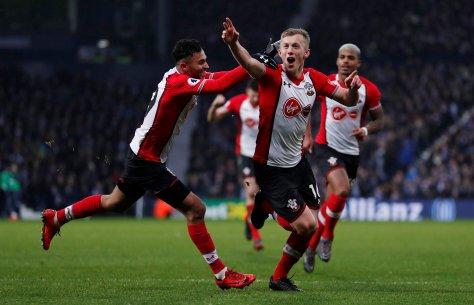 Fotboll, Premier League, West Bromwich - Southampton